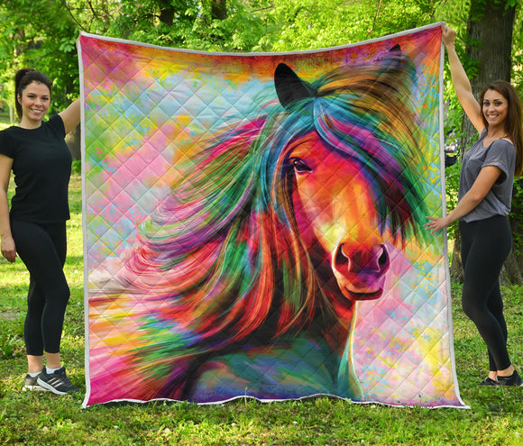 Colorful Horse Premium Blanket