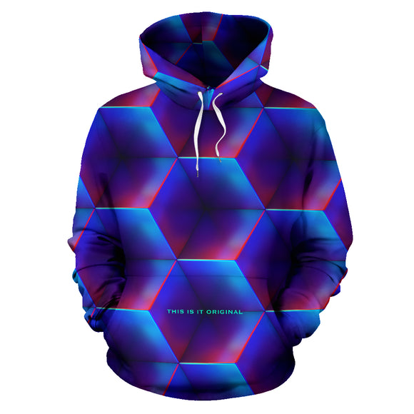 Crazy abstract colorful Geometric art Street Wear Unisex Hoodie