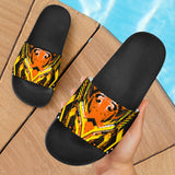 Racing Style Wild Orange & Black Vibes Slide Sandals