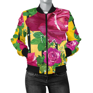 Luxury Rose Women's Bomber Jacket