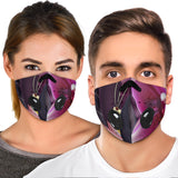 Luxury Colorful Pink Flowers Art Two Premium Protection Face Mask
