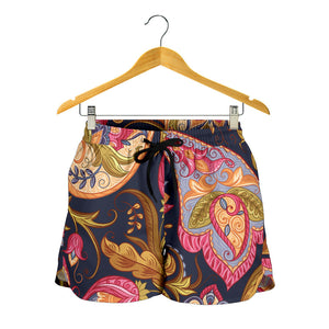 Royal Blue Paisley Women's Shorts