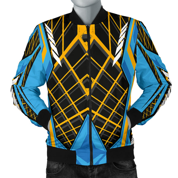 Racing Cosmic Style Blue & Orange Vibes Men's Bomber Jacket