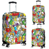 Graffiti Style Luggage Cover