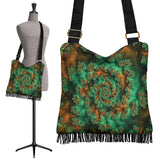 Psychedelic Love Crossbody Boho Handbag