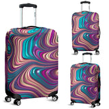 Marble Harmony Luggage Cover