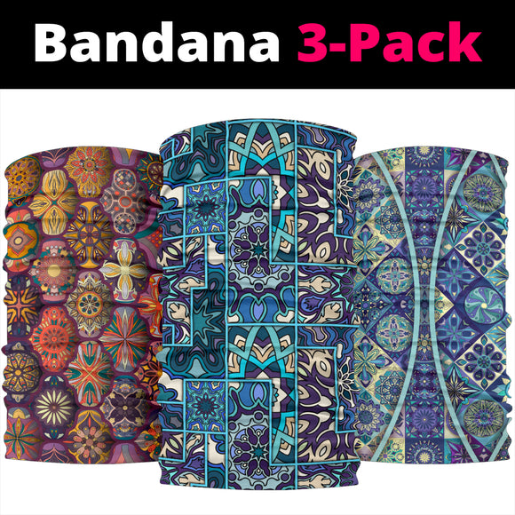 Mandala 6 Design by This is iT Original Bandana 3-Pack