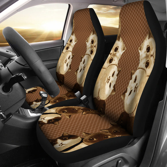 Brown Cat Society Car Seat Cover