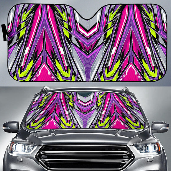 Racing Style Violet & Grey Vibes Auto Sun Shades