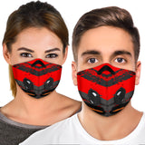 Racing Red & Grey Special Design Premium Protection Face Mask