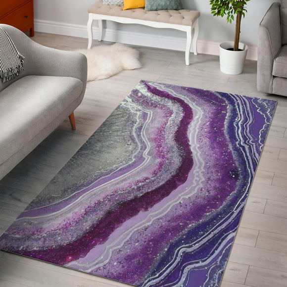 Beautiful Purple Agate Area Rug