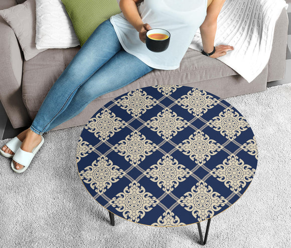 Ornamental Magical Blue Stars Circular Coffee Table