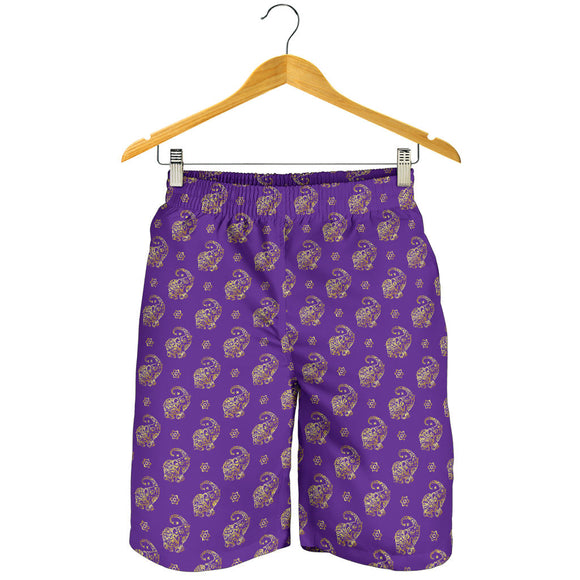 Lucky Purple Elephant Men's Shorts