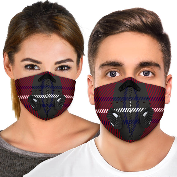 Amazing Dark Blue Tartan Premium Protection Face Mask