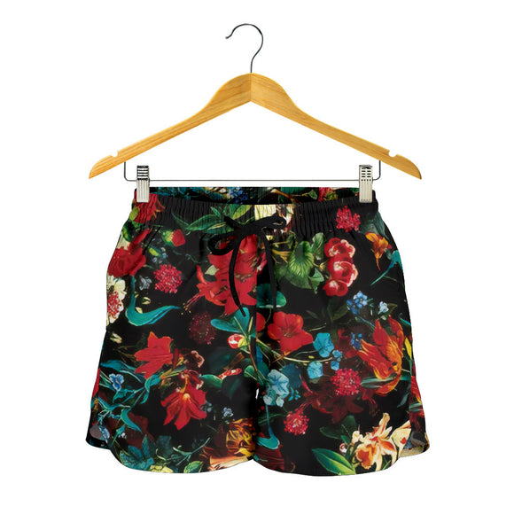 Lovely Mystical Red Flower Garden Women's Shorts