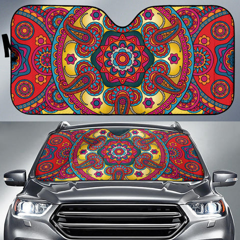 Ornamental Red Magical Dream Auto Sun Shades
