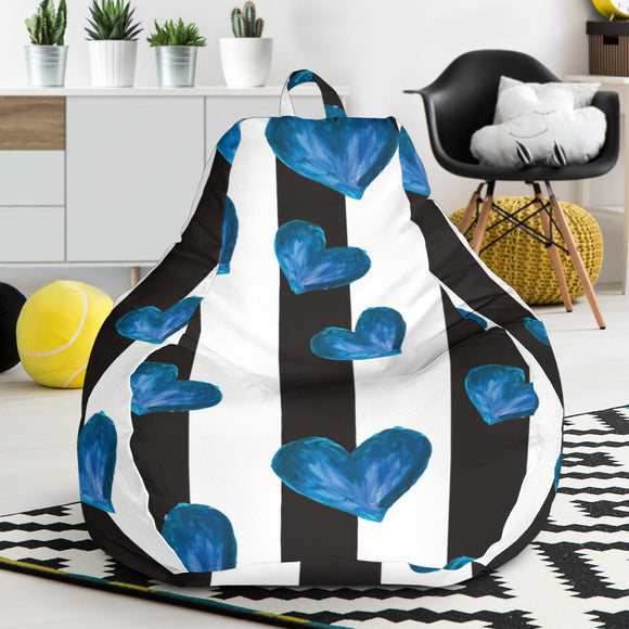 Blue Hearts Bean Bag Chair