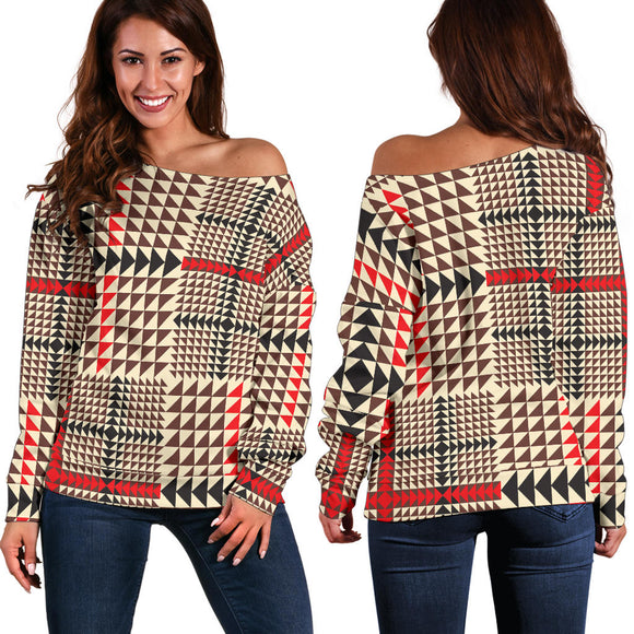 Awesome Tartan Plaid Women's Off Shoulder Sweater