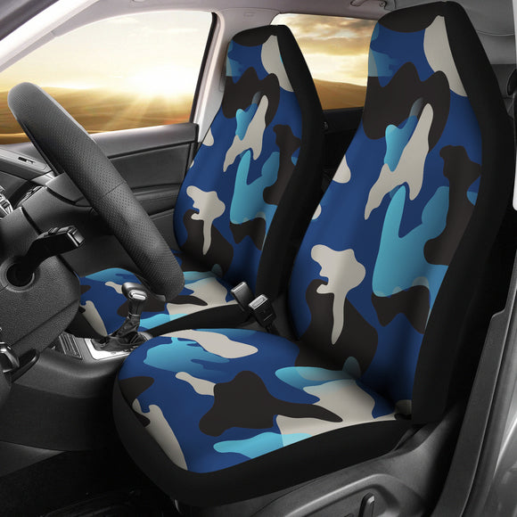 Blue Camouflage Car Seat Cover