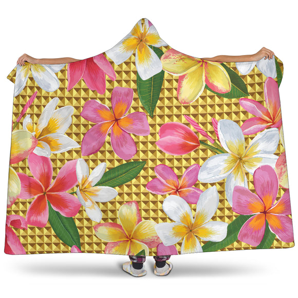 Romantic Flowery Passion Premium Hooded Blanket