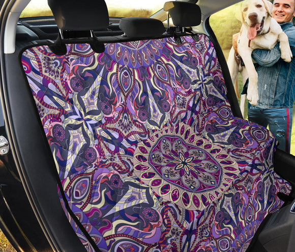 Ornamental Magical Purple Pet Seat Cover