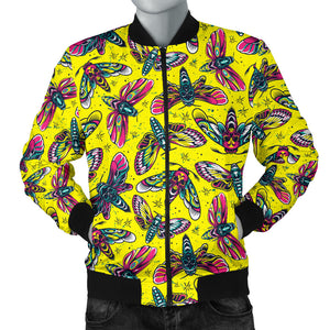 Lovely Yellow With HawkMoth Style Men's Bomber Jacket
