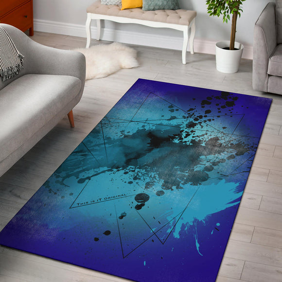 Deep Blue Fresh Street Art Design Area Rug