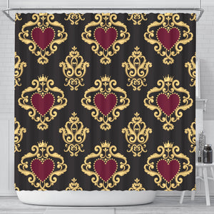 Luxury Royal Hearts Shower Curtain