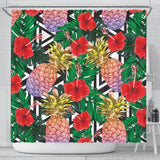Summer Pineapple Love Shower Curtain