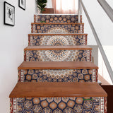 Luxury Persian Ornamental Design Four Stair Stickers (Set of 6)