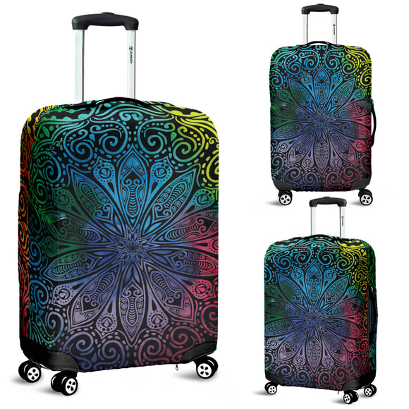 Rainbow Mandala Luggage Cover