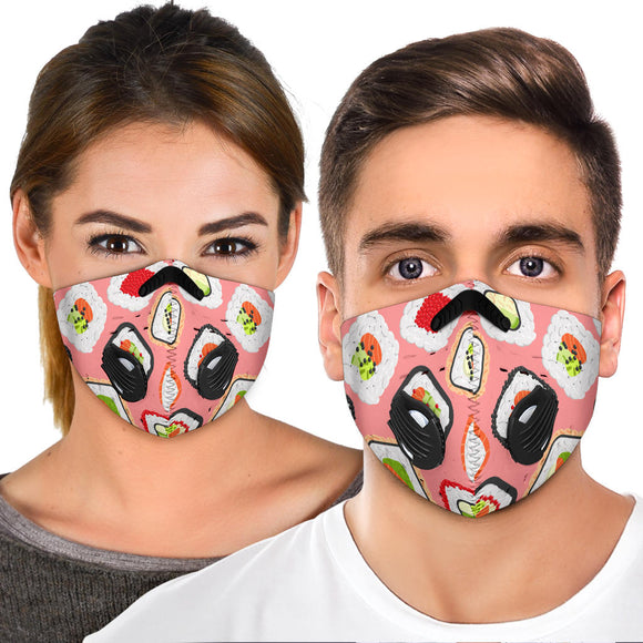 Amazing Sushi With Pink Premium Protection Face Mask