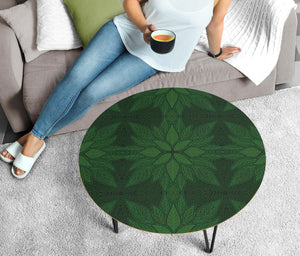 Ornamental Magical Green Circular Coffee Table