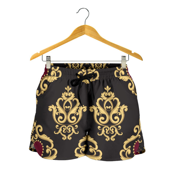 Luxury Royal Hearts Women's Shorts