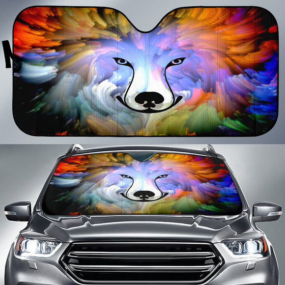 Abstract Dog Auto Sun Shades