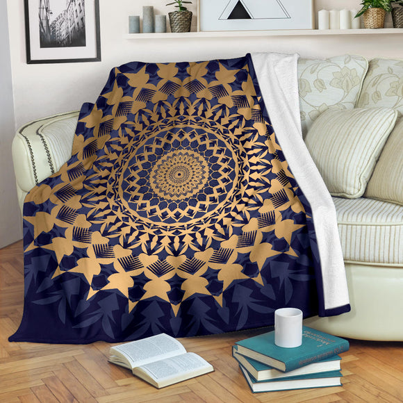 Amazing Blue Mandala Love Premium Blanket