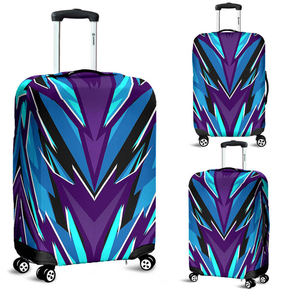 Racing Style Ocean Blue & Violet Vibes Luggage Cover