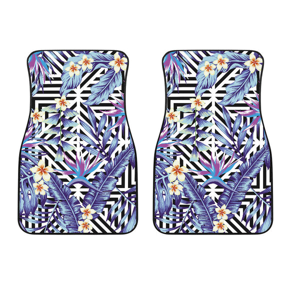 Summer Jungle Violet Geometric Love Front Car Mats