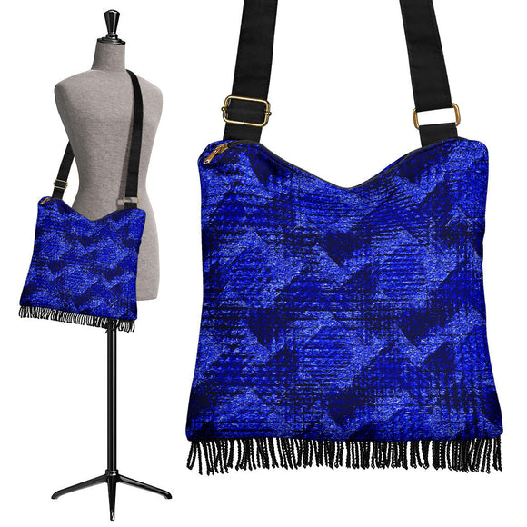 Dangerous Blue Crossbody Boho Handbag
