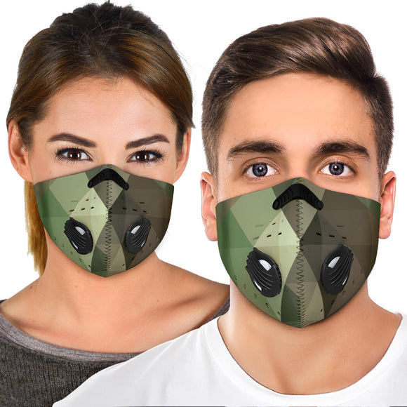 Geometric Army - Camouflage Design One Premium Protection Face Mask