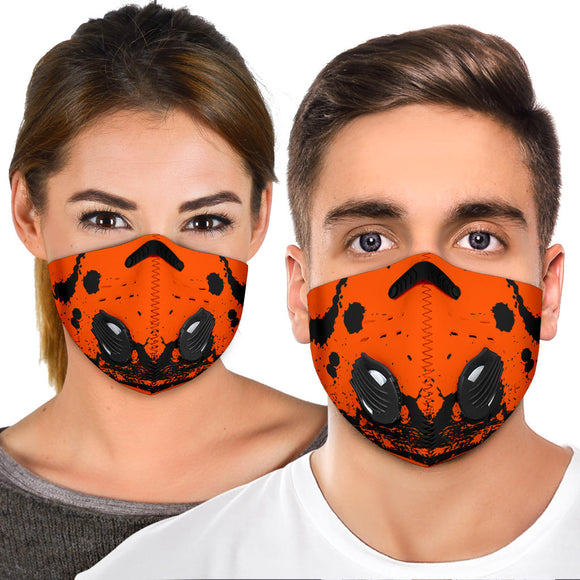 Racing Style Orange & Yellow Design One Premium Protection Face Mask