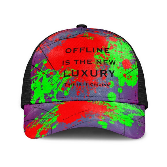Perfect Quote - Offline Is The New Luxury. Mesh Back Cap