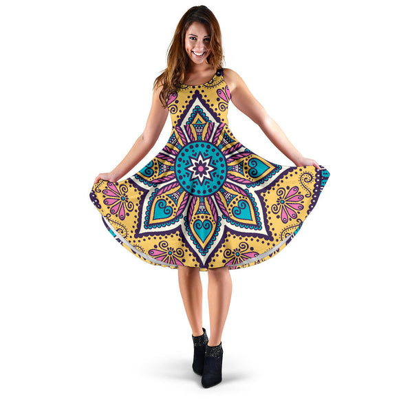 Lovely Boho Mandala Vol. 3 Women's Dress