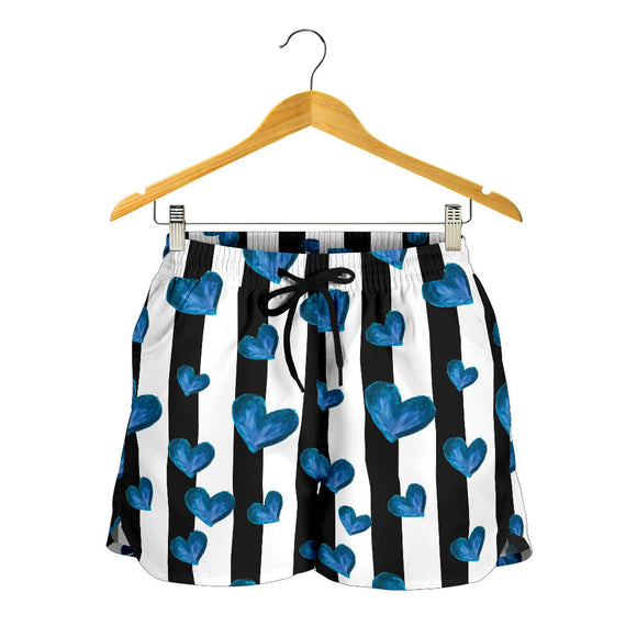 Blue Hearts Women's Shorts