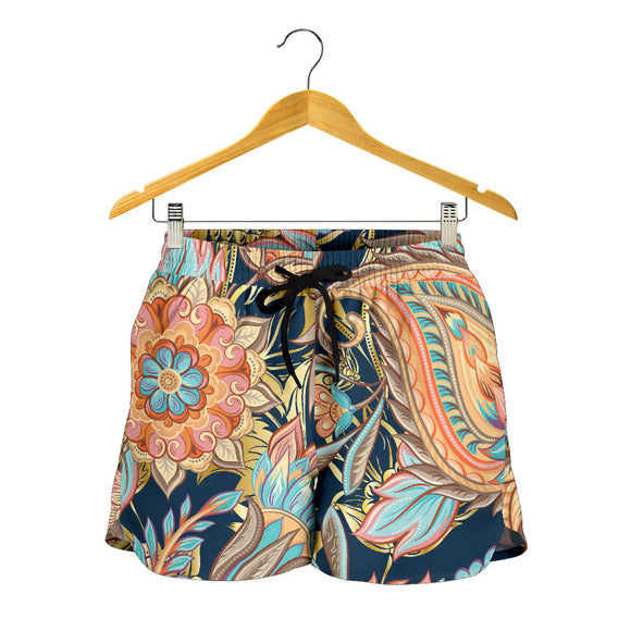 Romantic Paisley Women's Shorts