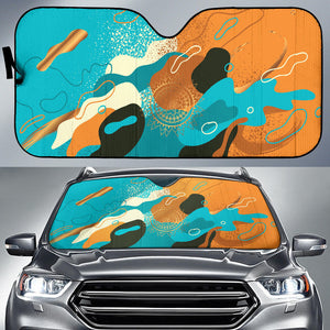 Orange Dream Auto Sun Shades