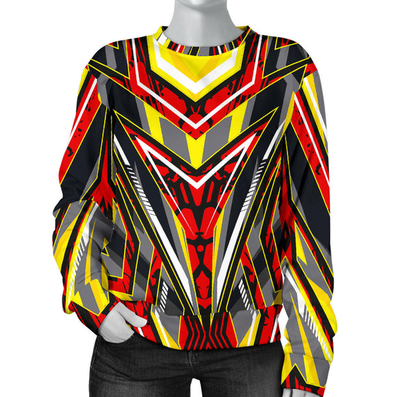 Racing Style Wild Red & Yellow Vibes Women's Sweater