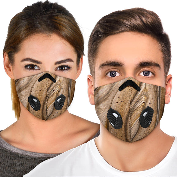 Metallic Marble Gold & Bronze Design Premium Protection Face Mask