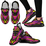 Racing Style Purple & Yellow Colorful Vibe Mesh Knit Sneakers