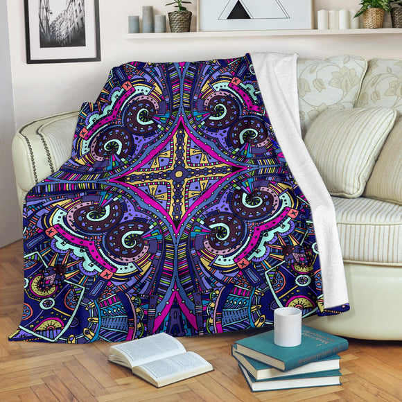 Amazing Purple Night Sky Premium Blanket